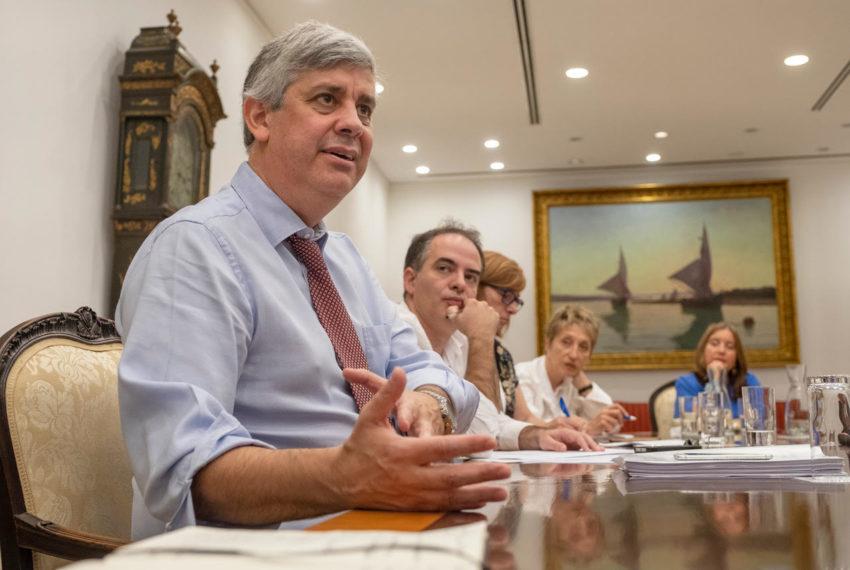 Correspondentes entrevistam ministro Mário Centeno