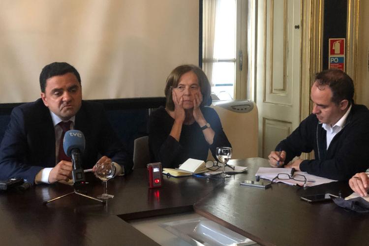 Candidatos ao Parlamento Europeu pelo PS foram entrevistados pelos jornalistas da AIEP | Foto: AIEP/Divulgação
