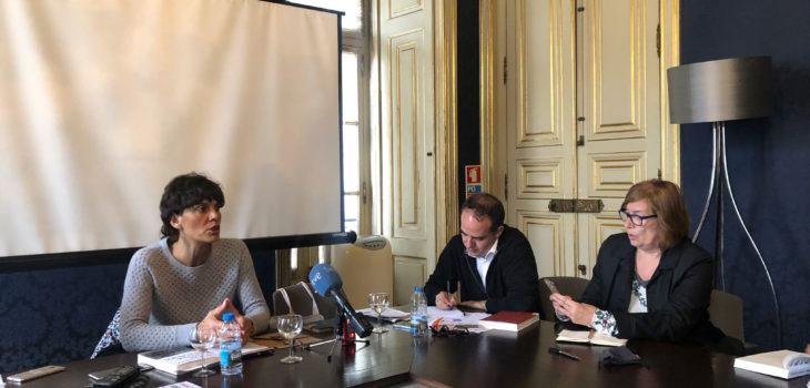 Investigadora Raquel Varela foi entrevistada por jornalistas da Imprensa Estrangeira em Portugal | Foto: AIEP/Divulgação